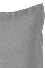 Washed linen pillowcase - Grey - Home All | H&M CN 3