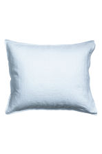 Washed linen pillowcase - Light blue - Home All | H&M CN 2