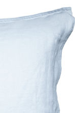 Washed linen pillowcase - Light blue - Home All | H&M CN 3