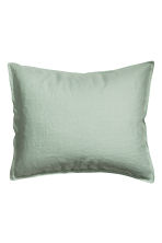 Washed linen pillowcase - Dusky green - Home All | H&M CN 2