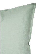 Washed linen pillowcase - Dusky green - Home All | H&M CN 3