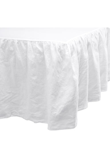 Washed linen valance - White - Home All | H&M CN 1