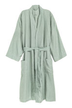 Washed linen dressing gown - Dusky green - Home All | H&M 2