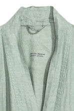 Washed linen dressing gown - Dusky green - Home All | H&M 3