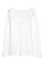 Tricot top - Wit - DAMES | H&M NL 3