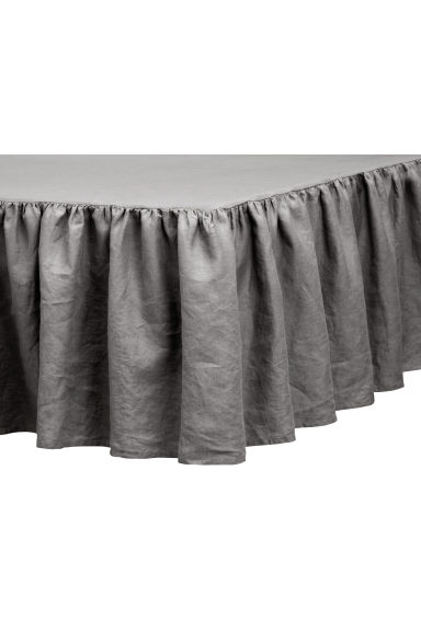 Washed linen valance - Grey - Home All | H&M CN 1