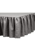 Washed linen valance - Grey - Home All | H&M CA 1
