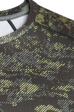 Sports top - Neon green/Patterned - Men | H&M CN 3