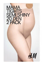 MAMA 2-pack tights - Beige - Ladies | H&M CN 1