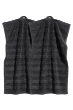 2-pack guest towels - Black - Home All | H&M CN 2