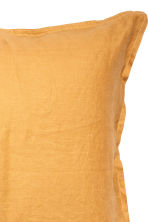 Washed linen pillowcase - Mustard yellow - Home All | H&M CN 2