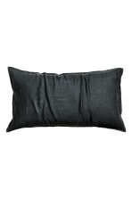 Washed linen pillowcase - Anthracite grey - Home All | H&M CA 1