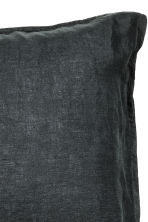 Washed linen pillowcase - Anthracite grey - Home All | H&M CA 2