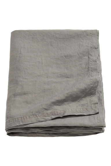 Washed linen tablecloth - Grey - Home All | H&M CN 1