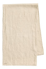 Washed linen table runner - Linen beige - Home All | H&M CN 1