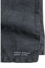 Linen napkin - Anthracite grey - Home All | H&M IE 3