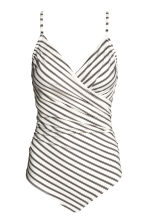 Shaping swimsuit - White/Black striped - Ladies | H&M 2