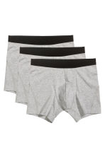3-pack boxers - Grey marl - Men | H&M 2