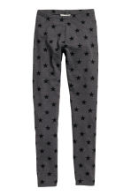 Jersey leggings - Dark grey/Star - Kids | H&M CN 2