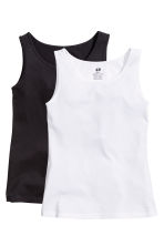 2-pack tops - Black -  | H&M CN 2