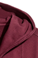 Sweatshirt cardigan - Burgundy - Men | H&M 3