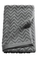 Jacquard-patterned bath towel - Dark grey - Home All | H&M 2