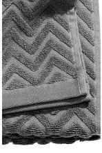 Jacquard-patterned bath towel - Dark grey - Home All | H&M 3