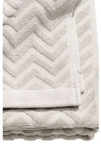Jacquard-patterned bath towel - Light grey - Home All | H&M GB 5