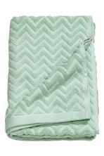 Jacquard-patterned bath towel - Mint green - Home All | H&M CN 1