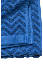 Jacquard-patterned bath towel - Blue - Home All | H&M CN 3