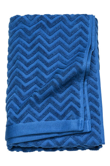 Jacquard-patterned bath towel - Blue - Home All | H&M CN 1