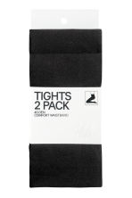 2-pack 40 denier tights - Black -  | H&M GB 3