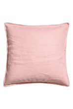 Washed linen cushion cover - Dusky pink - Home All | H&M CN 1