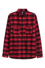 Flannel shirt - Red/Black - Men | H&M 2