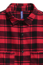 Flannel shirt - Red/Black - Men | H&M 3