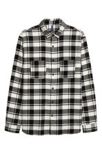 Flannel shirt - Black/White - Men | H&M 3