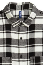 Flannel shirt - Black/White - Men | H&M 4