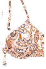 Push-up bikini top - White/Paisley - Ladies | H&M CN 3