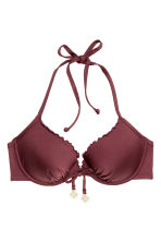 Push-up bikini top - Burgundy - Ladies | H&M CA 2