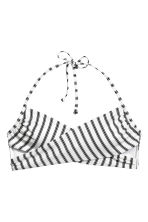 Bandeau bikini top - Black/White/Striped - Ladies | H&M 2