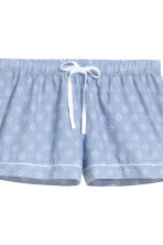 Pyjama shirt and shorts - Chambray/Patterned - Ladies | H&M GB 4