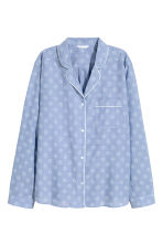 Pyjama shirt and shorts - Chambray/Patterned - Ladies | H&M GB 3