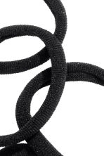10-pack hair elastics - Black - Ladies | H&M 2