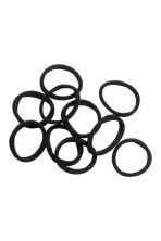 10-pack hair elastics - Black - Ladies | H&M CA 1