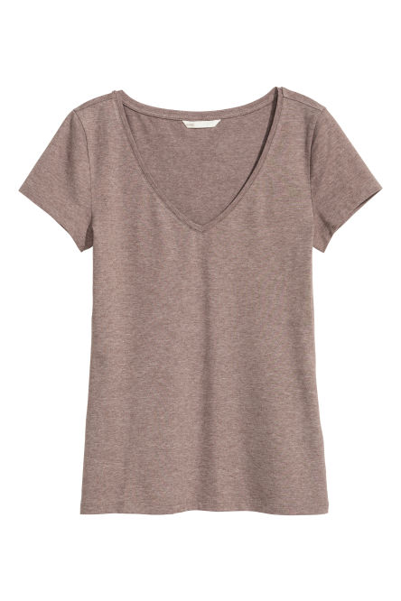 T-shirt in jersey scollo a V