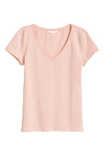 T-shirt in jersey scollo a V - Rosa cipria - DONNA | H&M IT 2