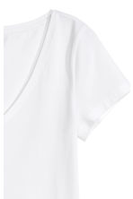 V-neck jersey top - White - Ladies | H&M CN 3