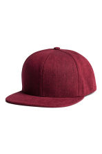 Cotton-blend cap - Burgundy -  | H&M 1