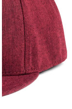Cotton-blend cap - Burgundy -  | H&M 3