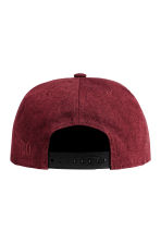 Cotton-blend cap - Burgundy -  | H&M 2